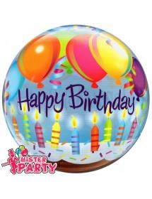 Balão Bubble Velas Aniversário
