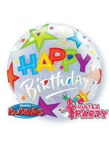 Balão Bubble Happy Birthday