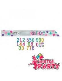 Faixa Aniversário Personalizável