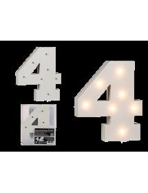 Número em madeira LED