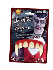 Dentes Vampiro ( Com pasta termoplástica )