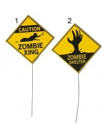 Placa Zombie ( 21cm )