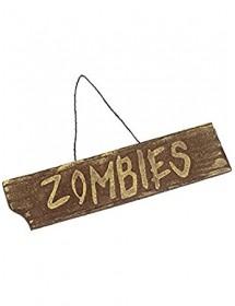 Placa Zombies ( 40cm )