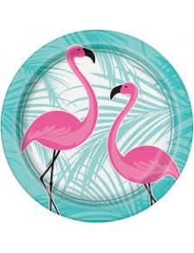 Pratos Flamingos Rosa