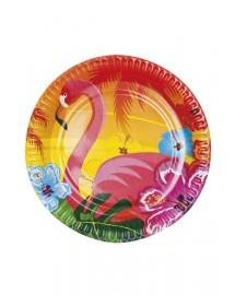 Pratos Flamingos Pack 6