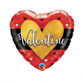 Balão Foil Coração Valentine's Day