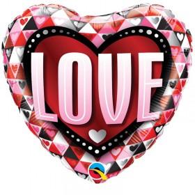Balão Foil Coração Love