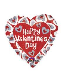 Balão Foil Coração Happy Valentine's Day