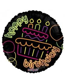Balão Foil Happy Birthday Neon II