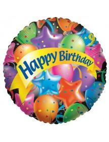 Balão Foil Happy Birthday (Balões)