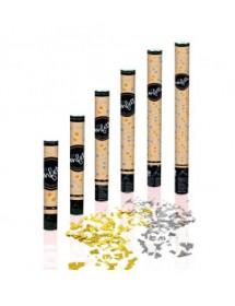 Canhão de Confetis Dourados e Prateados