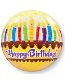 Balão Bubble Bolo Aniversário