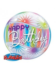 Bubble Qualatex Happy Birthday