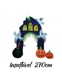 Portão de Casa Halloween Insuflável ( 270cm)