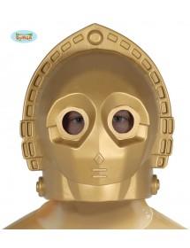 Capacete Robot Dourado