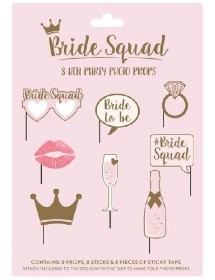 Photo Booth Props Hen Party Bride Squad