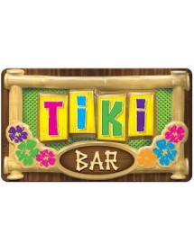 Placa Tiki Bar 3D