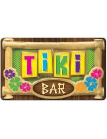 Placa Tiki Bar 3D
