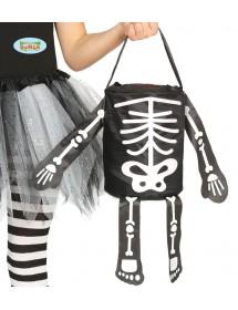Saco Esqueleto Halloween 20cm
