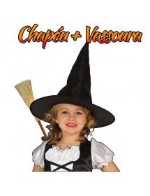 Chapéu Bruxa + Vassoura