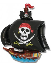 Balão Foil Barco Pirata (80cm)