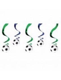 Decoração Swirl Futebol ( Pack 5 )