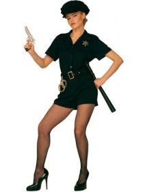 Kit Mulher Polícia (roupa, cinto e chapéu)