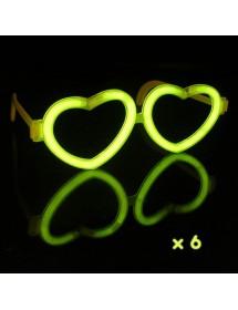 Óculos Coração Glow (6 unidades)
