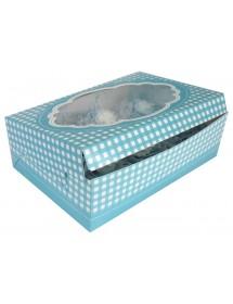 2 Caixas p/ Cupcakes Azul