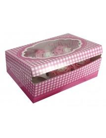 2 Caixas p/ Cupcakes Rosa