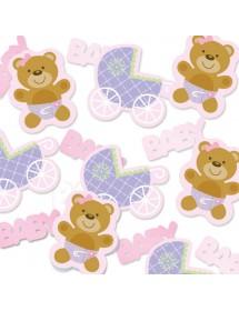 Confetis Baby Rosa