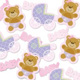 Confetis de Mesa - Baby Rosa