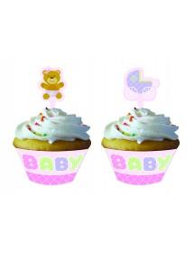 12 Cupcakes Kits Rosa