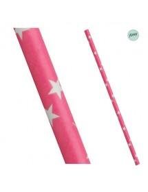 Palhinhas Papel Estrelas Rosa (pack 25)
