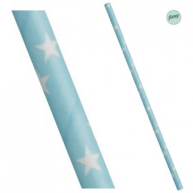 Palhinhas Papel Estrelas Azul (pack 25)