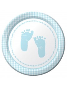 Pratos Baby Azul (pack 8)