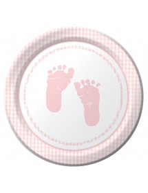 Pratos Baby Rosa (pack 8)