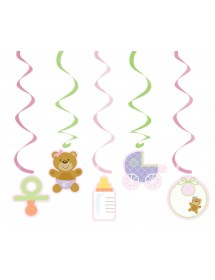 Fitas Decor Baby Shower Rosa (pack 5)