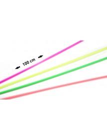 Palhinhas Direita Neon 100cm (pack 100)