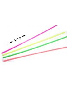 Palhinhas Direita Neon 50cm (pack 100)