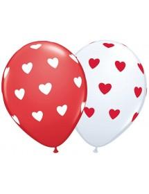 Balões Corações (pack 6)