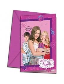 Convites Violetta (pack 6)