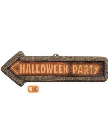 Placa 3D Halloween Party