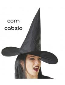 Chapéu Bruxa (com cabelo)