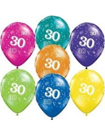 Balões Nº 30 (pack 6 coloridos) 28cm