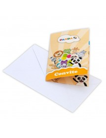 Convites Canal Panda (pack 8)