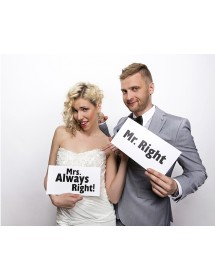 Photo Booth Mr.Right & Mrs.Always Right (pack 2)