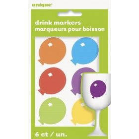 6 Marcadores de Copos (Balões)