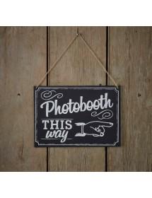 Placa Photo Booth Vintage
