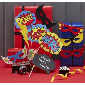 Photo Booth Comic Super Heróis